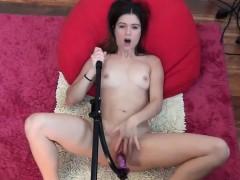Teen vacuum cleaner masturbation