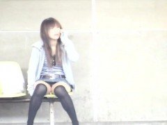 Pleasant japan playgirl shows off tits in public xxx scenes