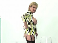 Adulterous english milf lady sonia presents her enormous mel