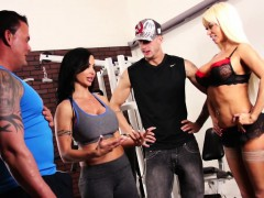 Nikita Von James joins a workout orgy with some hard bodies