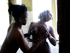 Sensual amateur lesbians from Africa tease their tight