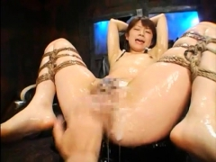 Busty Japanese hairy pussy fingering