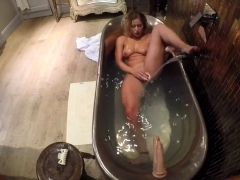 my dildo mounted on my bathtub