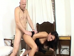 Highheeled tranny gets assfucked by her lover