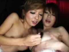 Asian MILF sizzling hot threesome with amateur couple