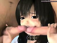 Hot animated slut gets mouth fucked