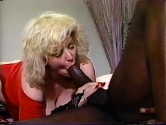 Blonde With Big Boobs Gives Outdoor Deepthroat Blowjob