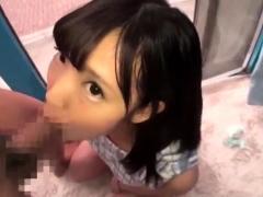 Cute Japanese teen blowjob