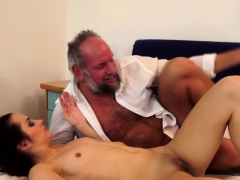 Skinny Coed Cutie Fucked by a Gramps