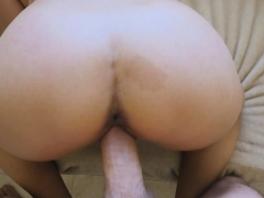 Stepsons huge dick slides inside Luckys pussy