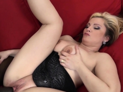 Sexy Blonde Milf Is Anally Fucked By A Big Black Cock