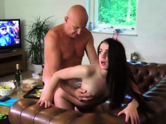 Big dick pleases a brunette babe