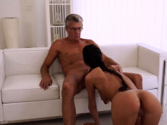 OLD4K. Young chick tastes chief's dick in nice old and...