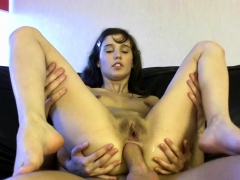 Lucky hunk gets to permeate sexy beauty's vagina deeply