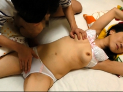 Fondling And Fingering Japanese Girl In Satin Lingerie
