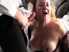Throated milf sub squirts