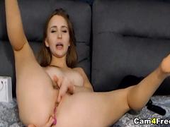 Sexy Wild Babe Having a Masturbation Show