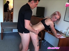 Cute Blond 18yo Tattoo Teen Fucks In Office Big German Dick