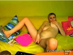 Blond Teen With Big Saggy Boobs