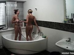 Hidden Shower Of Wife Taking Shower Part 2