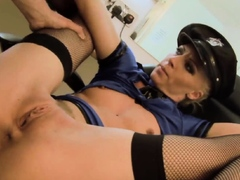 Cindy Behr fucked at hair salon with Cypress Isles fourway