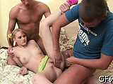 3some fucking for amazing virgin