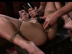 Asian Mia gets her throat stuffed with big cock