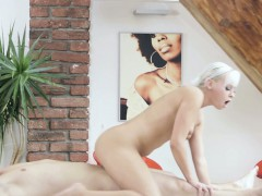 Naomi Nevena Sits On And Sucks Her MAsseurs Cock