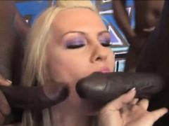 Tara Lynn Foxx bukkake facial cum by many big black cocks